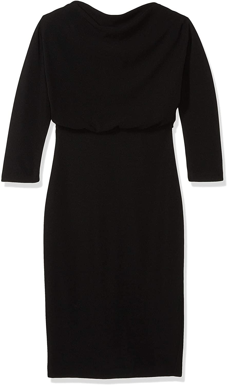 Badgley Mischka Womens 3/4 Sleeve Blouson Dress