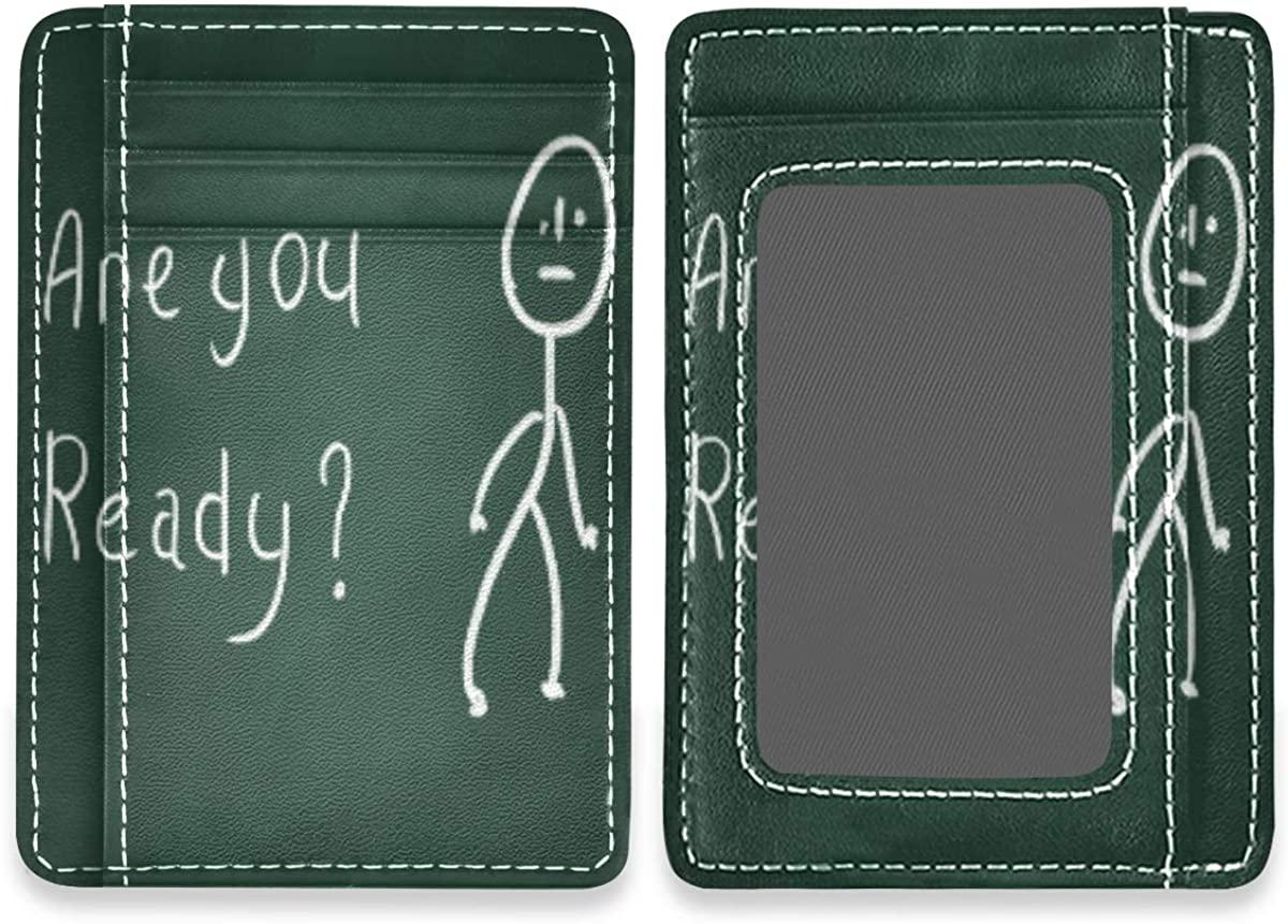 Animal Head Print Slim Rfid Credit Card Holder Case Leather Cardholder Wallet Men Women