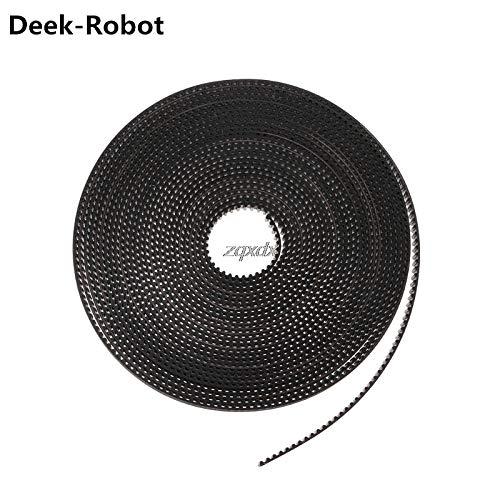 GIMAX Deek-Robot 2m/5m GT2 Timing Belt 6mm Width Fiber Reinforced Rubber Timing Belt for CNC 3D Printer Prusa i3 Z09 Drop Ship - (Size: 5M)