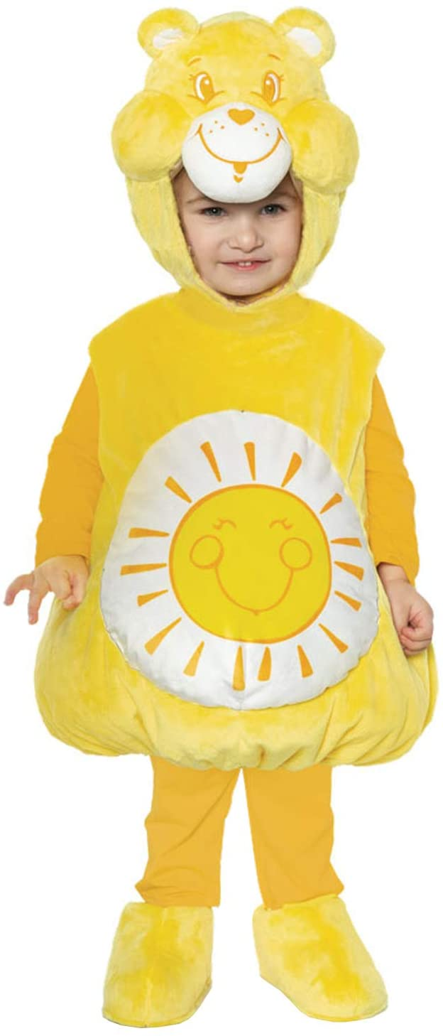 UNDERWRAPS Kid's Care Bears Funshine Bear Toddler's Costume Childrens Costume, White, Large (2-4T)