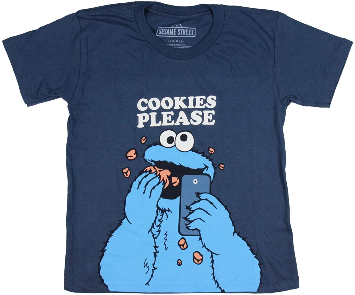 Cookie Monster Cookies Please Boy's T-Shirt