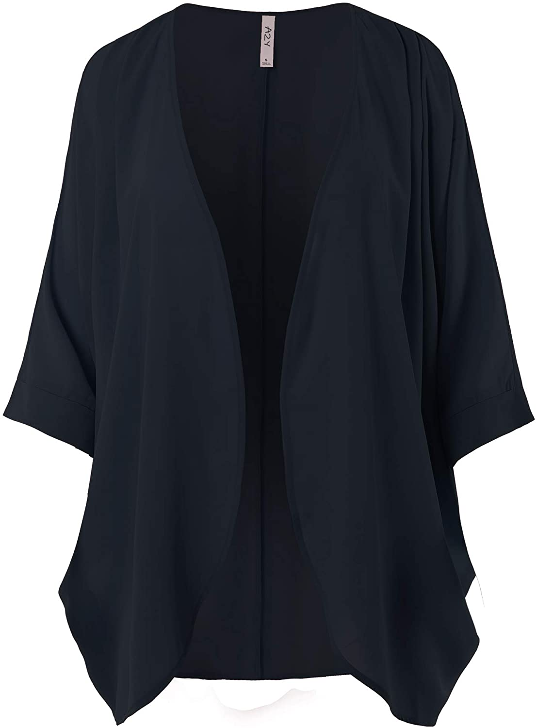 Women's Loose Fit Lightweight Open Front Woven Chiffon Cardigan