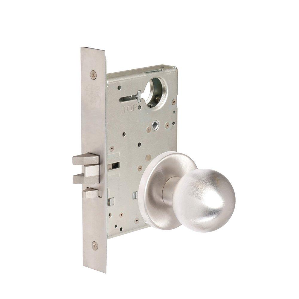 CORBINRUSSWIN ML2042-GRC-626-LC 626 Satin Chrome, Knob GRC Global, Entrance/Entry/Office, Steel; Stainless Steel; Brass