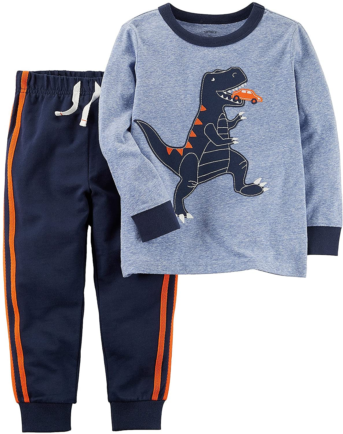 Carter's Baby Boys' 2 Piece Dinosaur Graphic Tee & Jogger Set 3 Months Blue