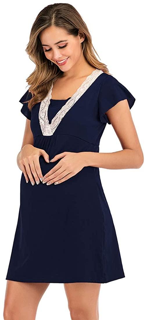 AEIOU Fashion Lace Multi Function Nursing Dress1