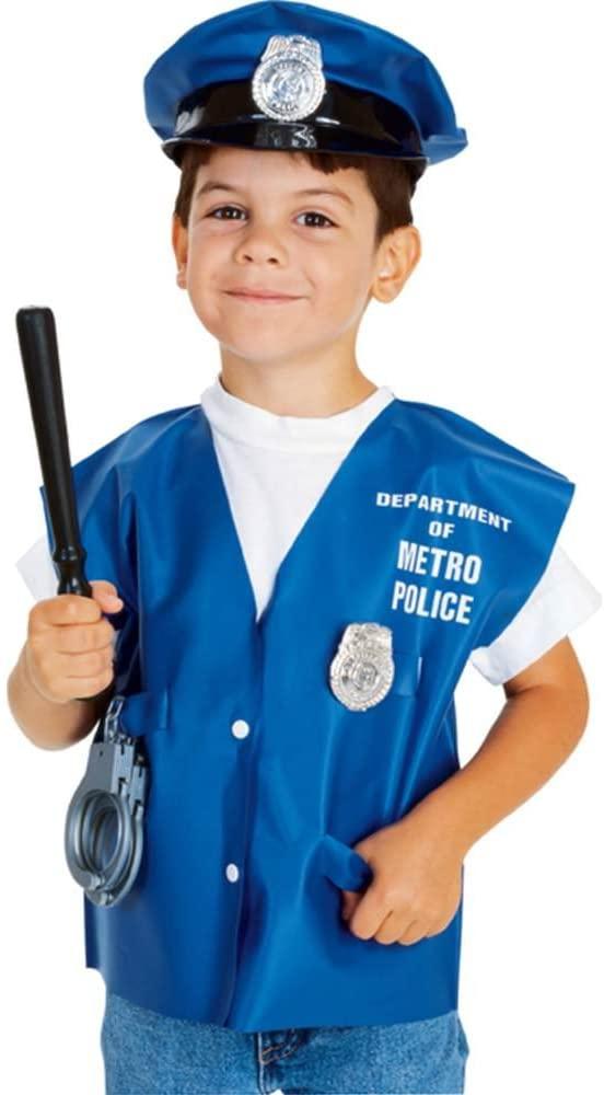 Childs Policeman Halloween Costume Accessory Kit, Blue, Standard