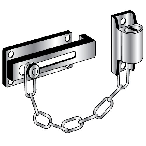 Pro-Lok Door Guard - Keyed Locked Chain (Chrome Finish)