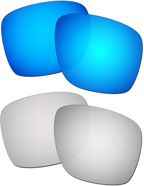 HKUCO Reinforce Replacement Lenses for Oakley Sliver XL Blue/Titanium Sunglasses