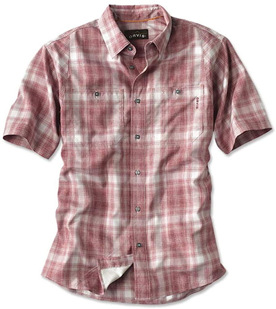 Orvis Men's Tech Chambray Plaid Work Shirt