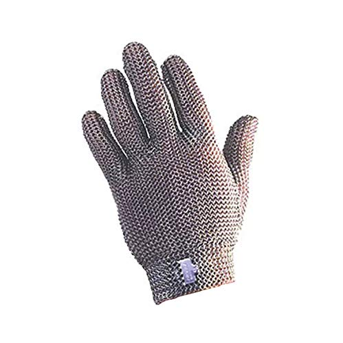 Tomlinson Foodservice 1036474 C&K Metal Mesh Protective Glove, Nylon Closure, Large
