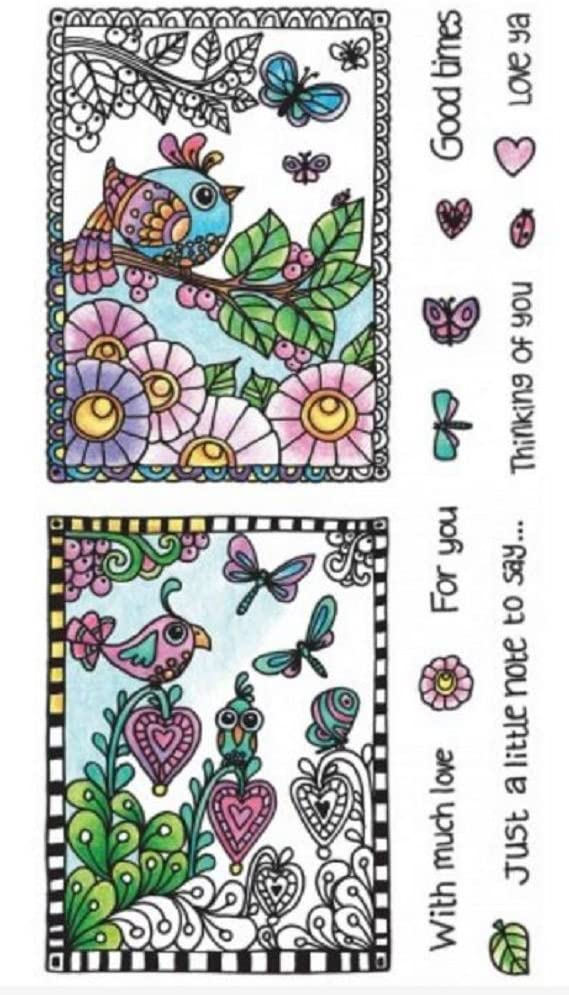 Hampton Arts Color Me Clear Stamps ~ Birds