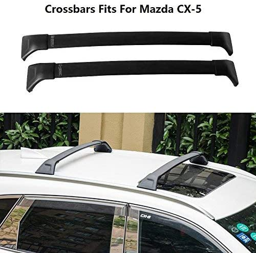 Chebay 2Pcs Roof Rack Fits for CX-5 CX5 2017 2018 2019 2020 Cross bar Roof Rail Rack Crossbar Luggage Rack Baggage Carrier
