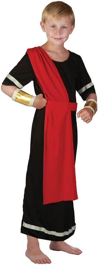 Bristol Novelty CC202 Caesar Costume, Red, Medium, Approx Age 5 - 7 Years, Caesar. Black (M)