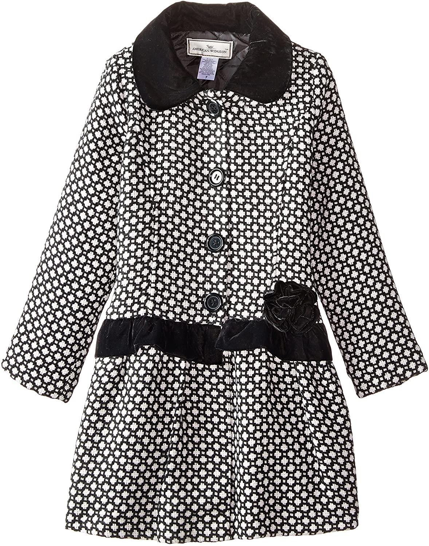Widgeon Big Girls' Velvet Trim Coat