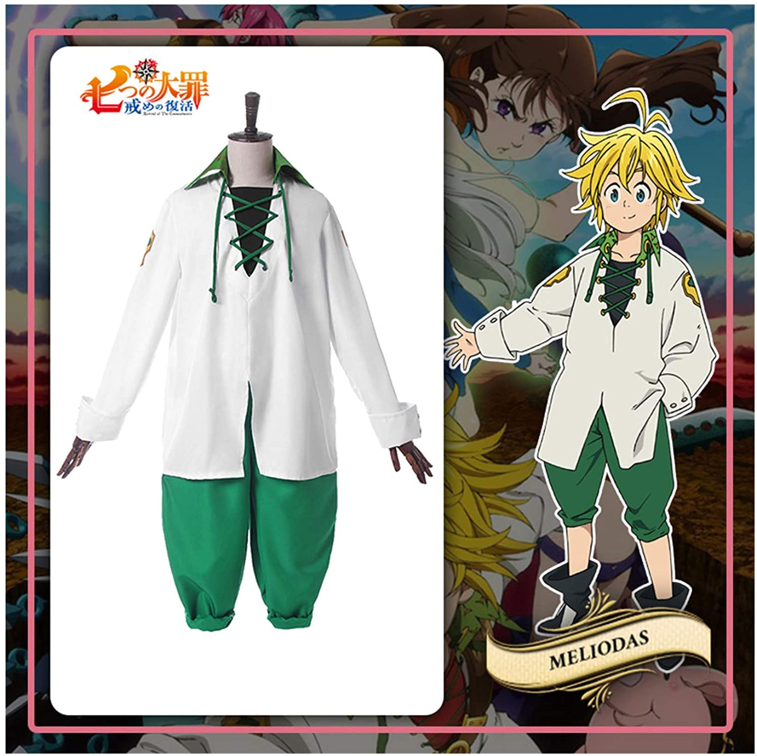 The Seven Deadly Sins Meliodas Cosplay Costume The Second Season Dragons Sin