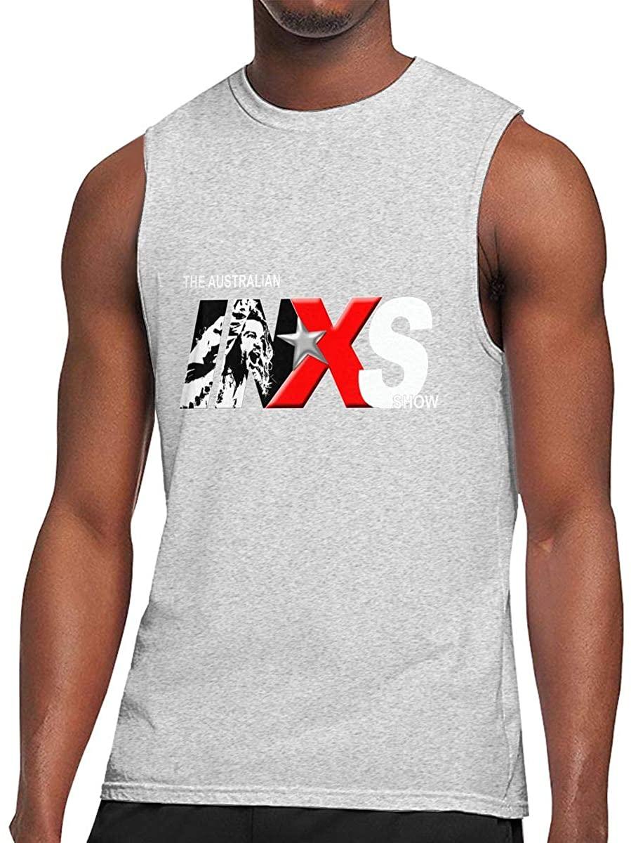 Vdsdsf Men's Black Round Neck Sleeveless T-Shirt,Joy Division Printing Motion Cotton Undershirt for Outdoor Sports