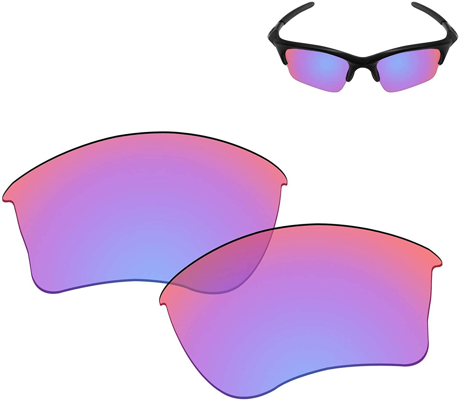 Galvanic Replacement Lenses for Oakley Half Jacket XLJ Sunglasses - Multiple Choices