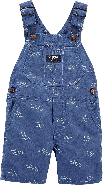 OshKosh B'Gosh Baby Boys' Shark Schiffli Shortalls (Baby)