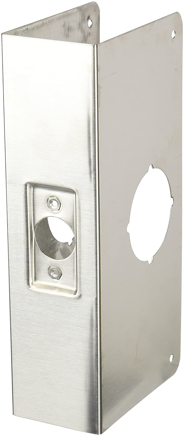 Don-Jo 214-CW 22 Gauge Stainless Steel Wrap-Around Plate, Satin Stainless Steel Finish, 4
