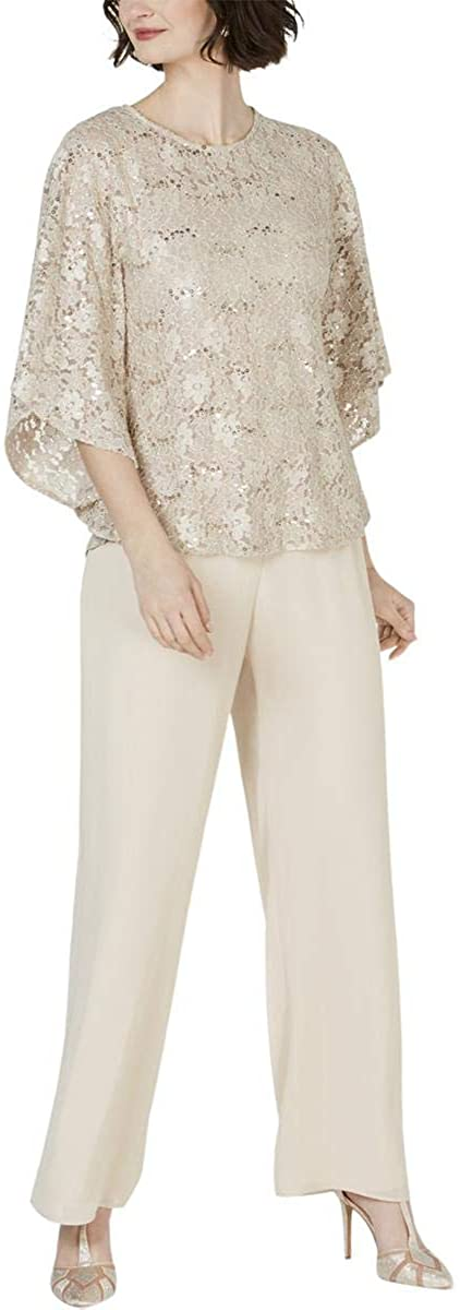 Jessica Howard Womens Lace 2PC Pant Outfit