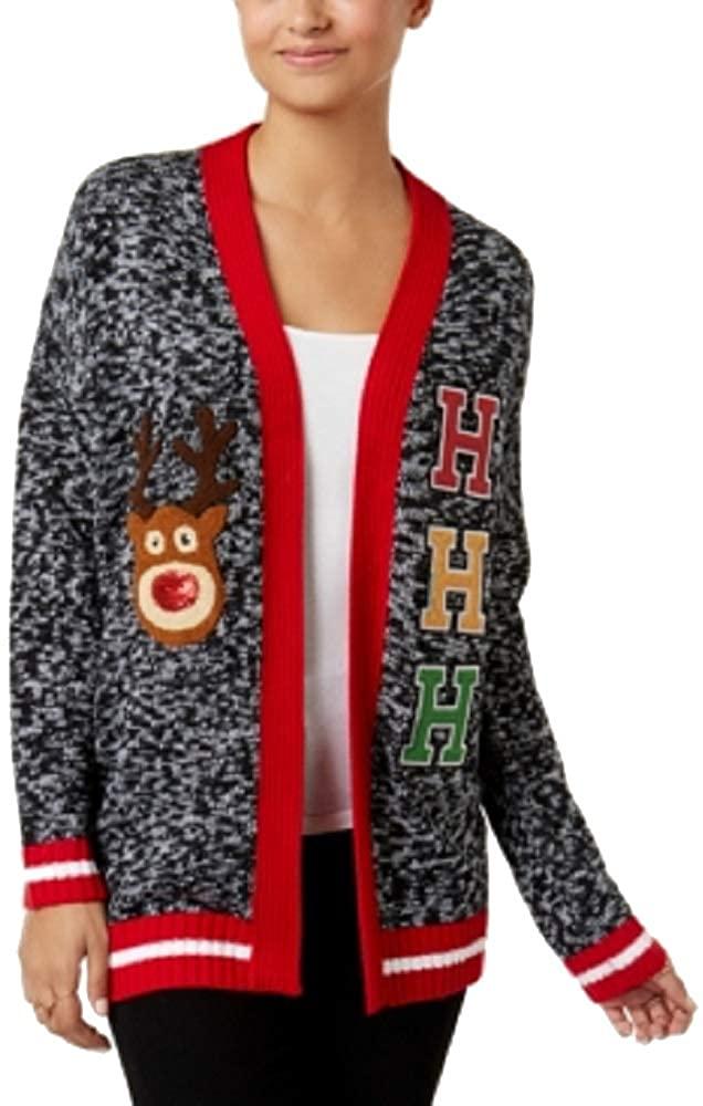 Hooked Up by IOT Juniors' Ho Ho Ho Varsity Holiday Cardigan