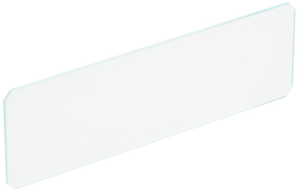 Globe Scientific 1331-144 Borosilicate Glass Microscope Slide, 45° Beveled Edge, Clipped Corner, Plain, 25 mm W x 75 mm L (Pack of 144)