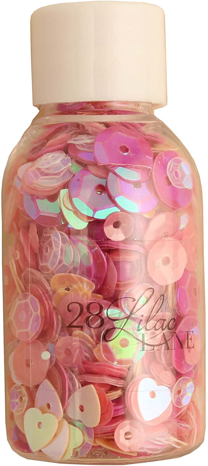 Sequin & Bead Assorted Mixes for Crafts 75 Grams - Pretty Pinks - 3 Bottles