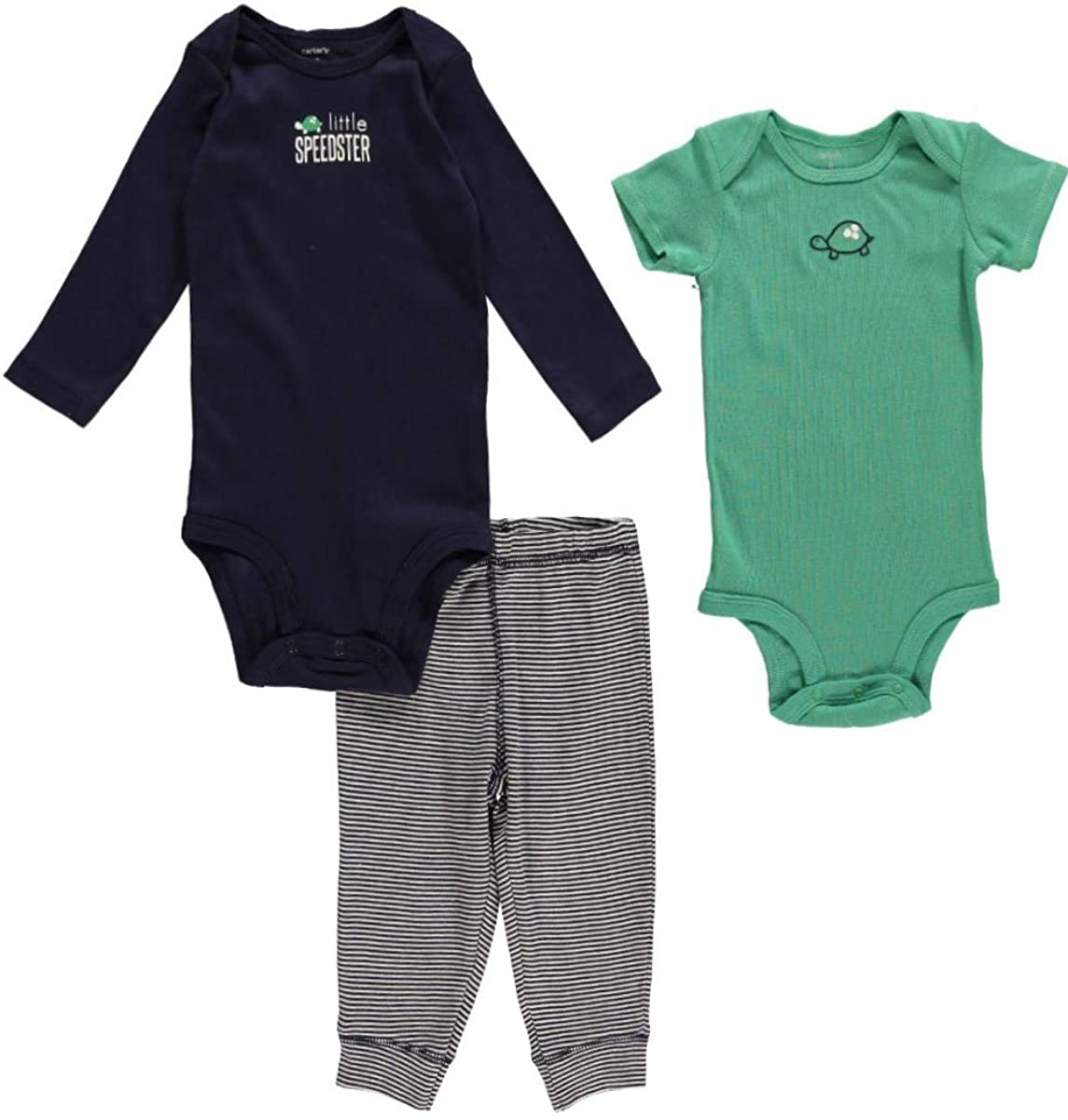 Carters Baby Boys 3 Piece Take me Away Set (Baby) - Lil Speedster - Navy - Newborn