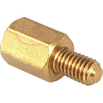 Jack Screws - Male #4-40 x 3/16 (OD) x 3/16 (Body Length) x 5/16 (Male Thread Length), Brass, Plain, (QUANTITY: 1000) Part Number: 4750-3-B-JF