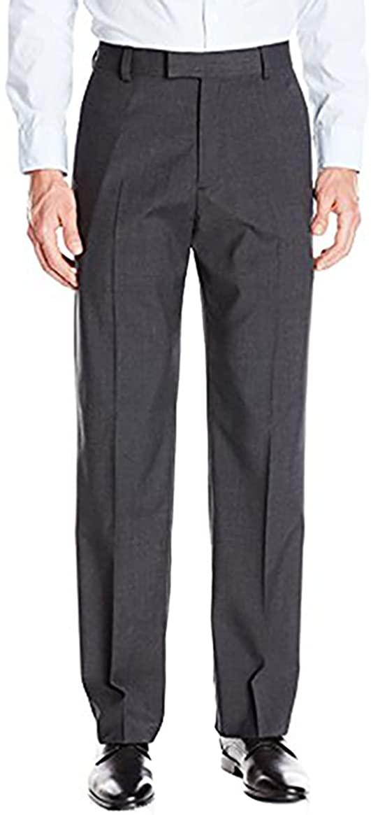 IZOD New Performance Stretch Dress Pants Straight, Charcoal, Size: 34x30, NWT