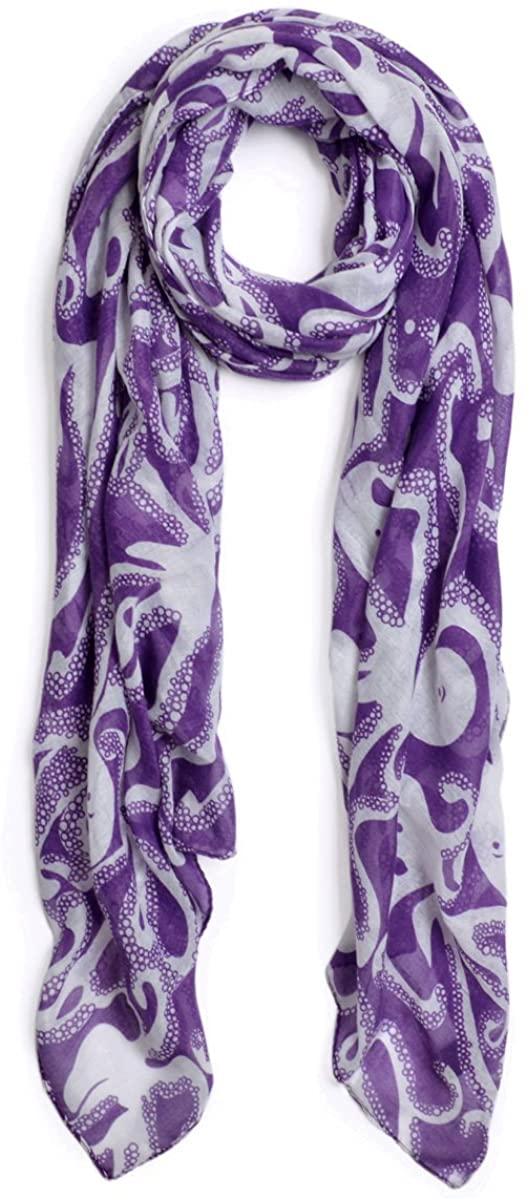 IvyFlair Unique Octopus Print Fashion Scarf Shawl Wrap - Different Colors
