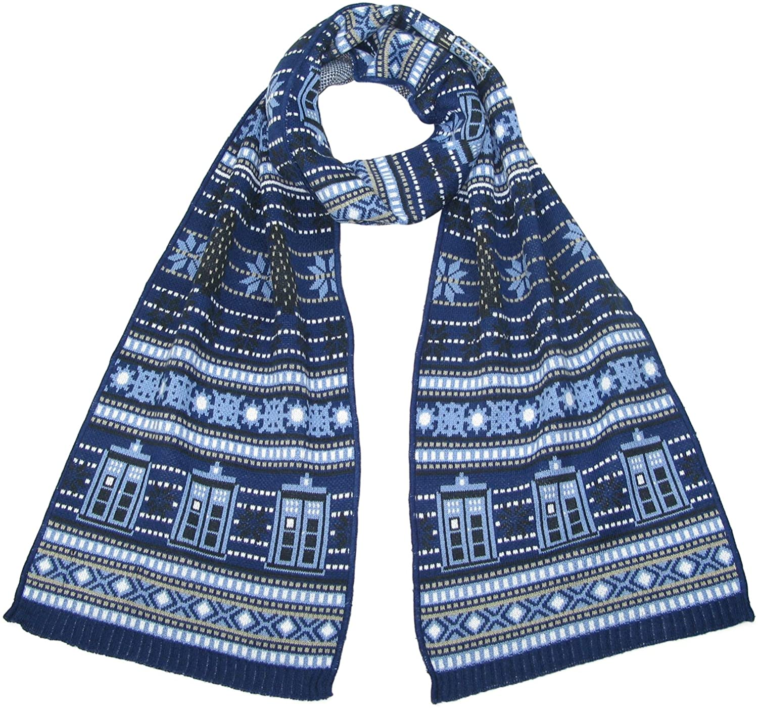 TARDIS and Daleks Christmas Scarf - Official Doctor Who Scarf by LOVARZI