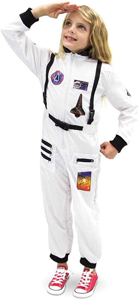 Adventuring Astronaut Childrens Halloween Dress Up Theme Party Roleplay & Cosplay Costume (Youth Small (3-4)) White