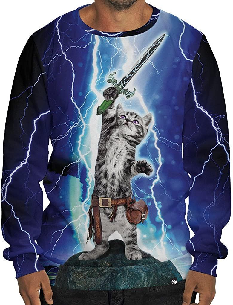 Beloved Shirts Cat Hero Sweatshirt - As Seen On Shark Tank - Large