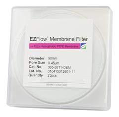 365-3811-OEM - EZFlow Membrane Disc Filter, 0.45&Micro;m Hydrophobic PTFE, 90mm, 25/Pack - Qty 25