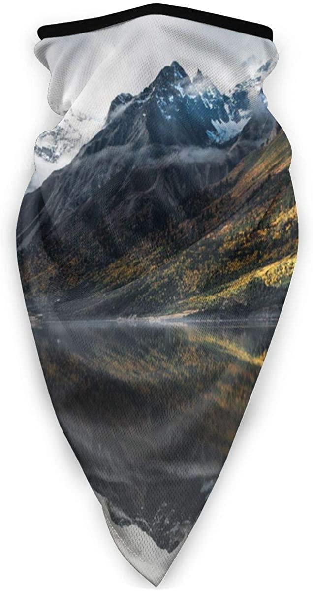 Sport Scarf Face Sun Maskmountains Lake Water Reflection Clouds Fog Dawn Dustproof Windproof Variety Head Scarf Balaclava For Women Men