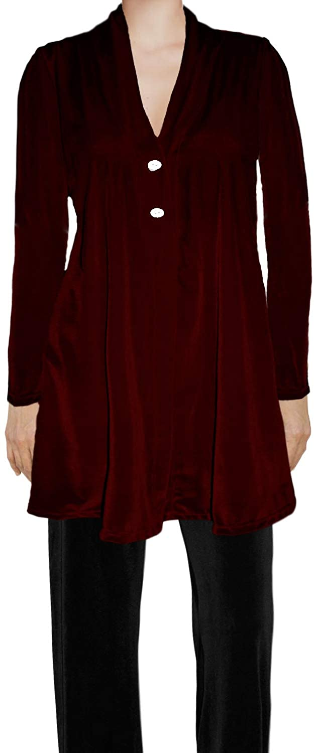 Ooh La La Womens Stretch Velvet Flared Button Special Occasion Cardigan Jacket