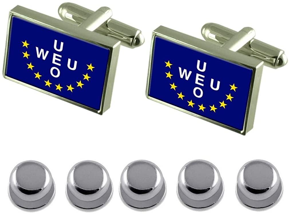 Select Gifts Shirt Dress Studs Western European Union Flag Cufflinks