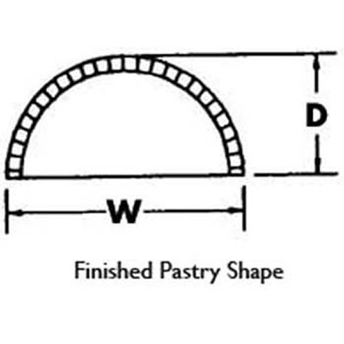 Somerset DS5 Pastry and Turnover Machine Die, Half Round, 5