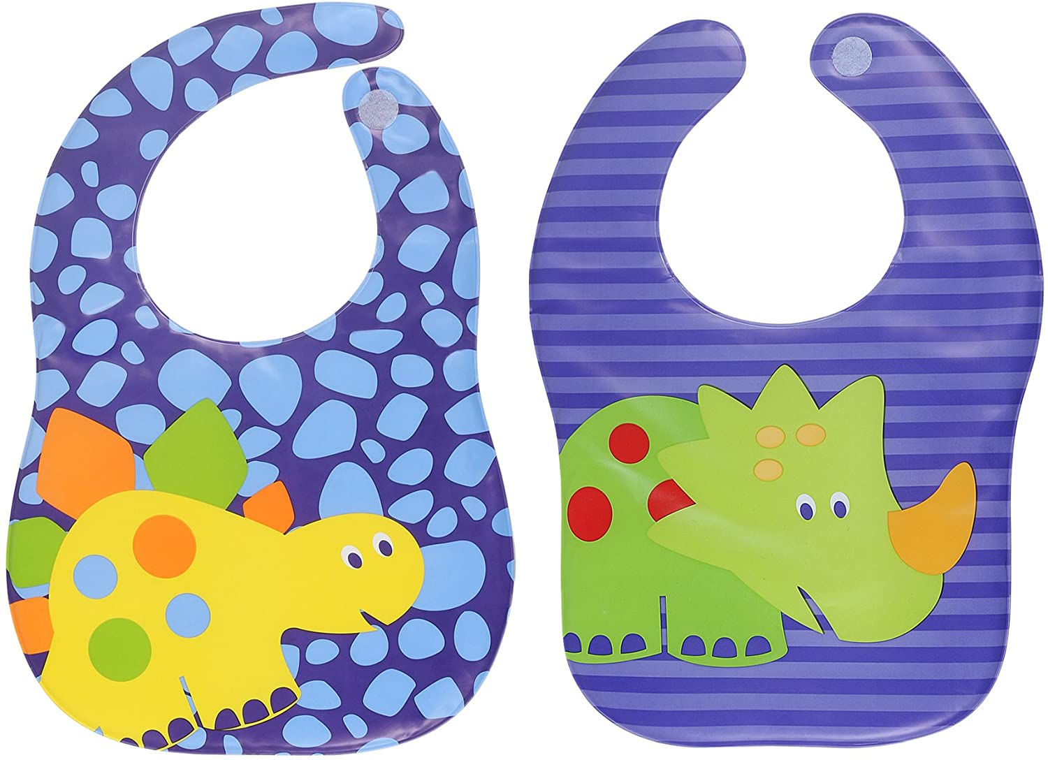 Waterproof Plastic Bibs! UNISEX! Keep Stains Off! Easy clean! (Pack of2)