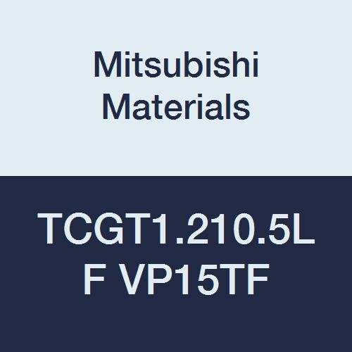 Mitsubishi Materials TCGT1.210.5LF VP15TF TCGT Carbide TC Type Positive Turning Insert with Hole, PVD Coated, Triangular, 0.156