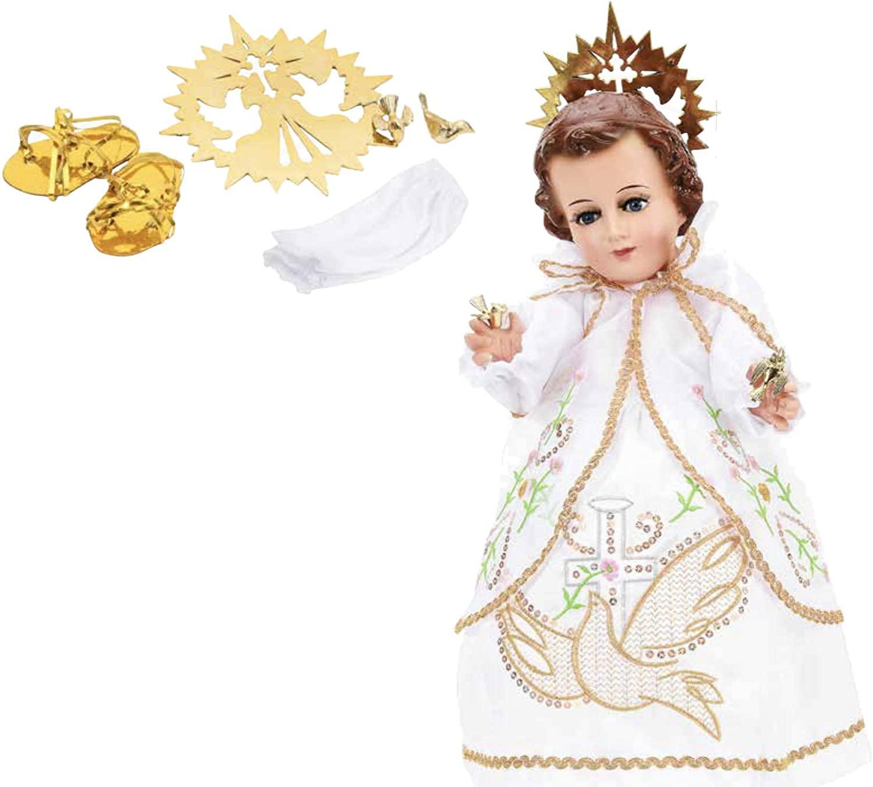 Trajecito de Nino Espiritu Santo para Niño Dios con accesorios Incluidos/Baby Jesus Outfit