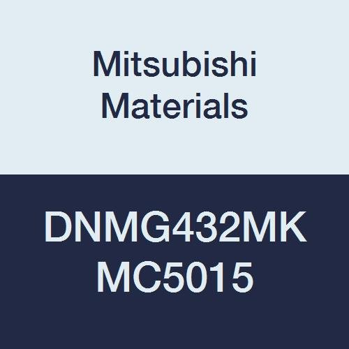 Mitsubishi Materials DNMG432MK MC5015 Coated Carbide DN Type Negative Turning Insert with Hole, Unstable Cutting, Rhombic 55°, 0.5
