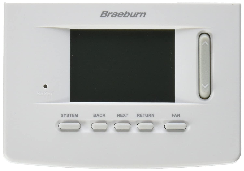 BRAEBURN 3020 Thermostat, Non-Programmable, 1H/1C