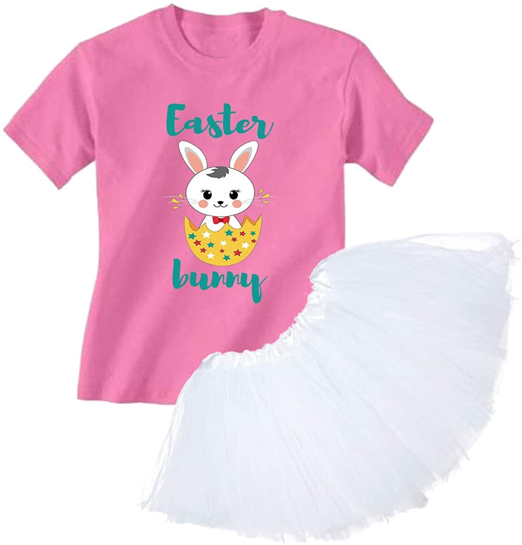 Awkward Styles Easter Bunny Girl's Ballet Dress Outfit Easter Shirt Cute Rabbit Tutu Skirt Set