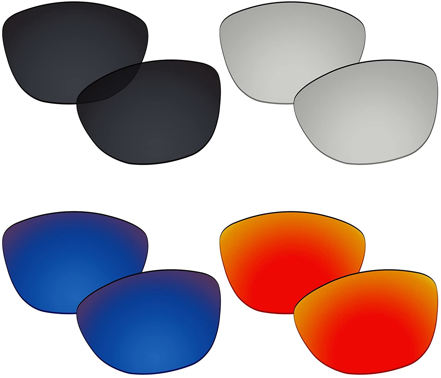 Galvanic 4 Pairs Polarized Replacement Lens for Oakley Frogskins OO9013 Pack P01