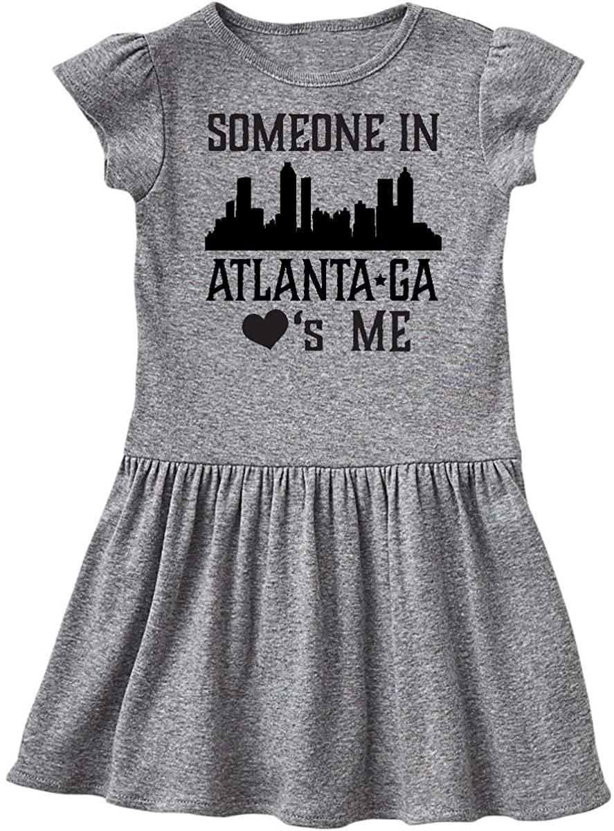 inktastic Atlanta Georgia Someone Loves Me Skyline Toddler Dress