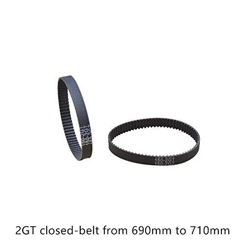 Ochoos 3D Printer Belt GT2 Closed Loop Rubber 2GT Timing Belt 690 692 694 696 698 700 702 704 706 708 710 GT2 Length 690mm 692mm 710mm - (Width: 6mm, Length: 2GT-696)