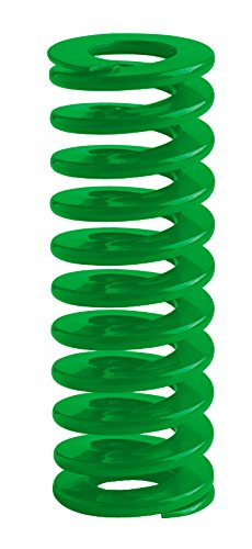 Raymond 203424000 Chrome Silicon per SV 9254 ISO Die Spring, 20 mm Hole Fit, 10 mm Rod Fit, 152 mm Free Length, 91 mm Solid Height, 7.5 N/mm Spring Rate, Green (Pack of 10)