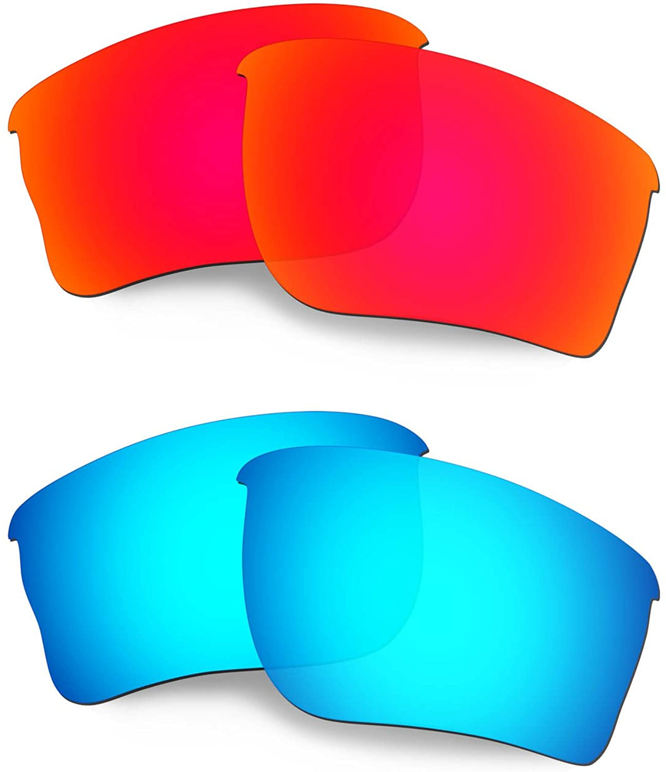 HKUCO Reinforce Replacement Lenses for Oakley Quarter Jacket Sunglasses Red/Blue Polarized